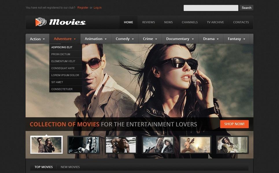 Premium Flash CMS Template over Films New Screenshots BIG
