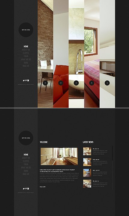 ADOBE Photoshop Template 41395 Home Page Screenshot