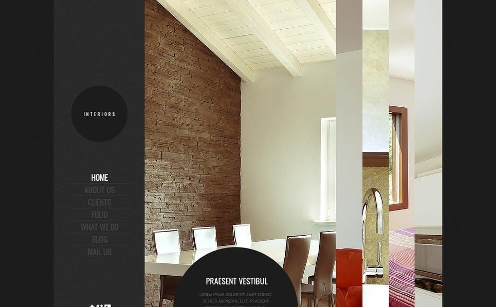 Flash CMS Vorlage für Innenarchitektur  New Screenshots BIG