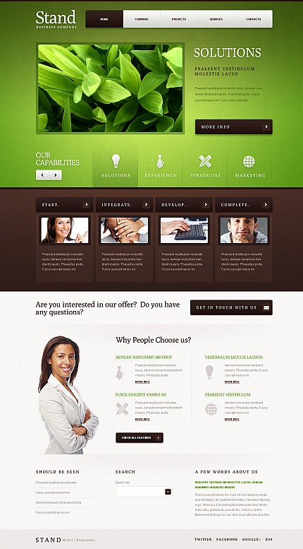 ADOBE Photoshop Template 41396 Home Page Screenshot
