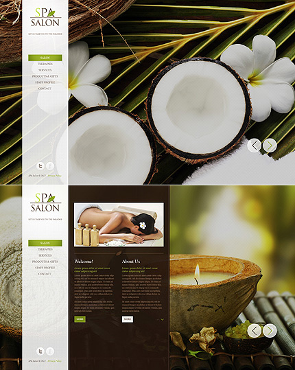 ADOBE Photoshop Template 41398 Home Page Screenshot