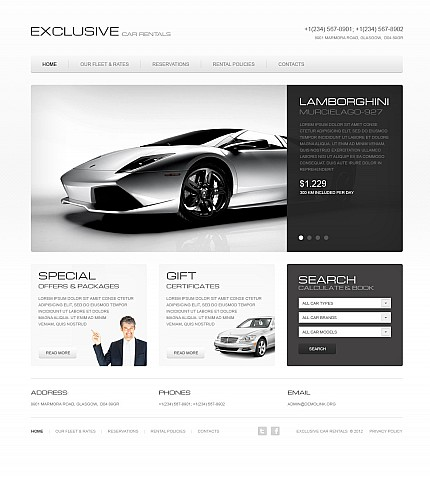 ADOBE Photoshop Template 41399 Home Page Screenshot