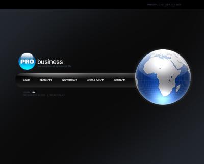 Business Flash CMS šablona