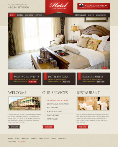 Plantilla Flash CMS #41385 para Sitio de  para Sitio de Hoteles