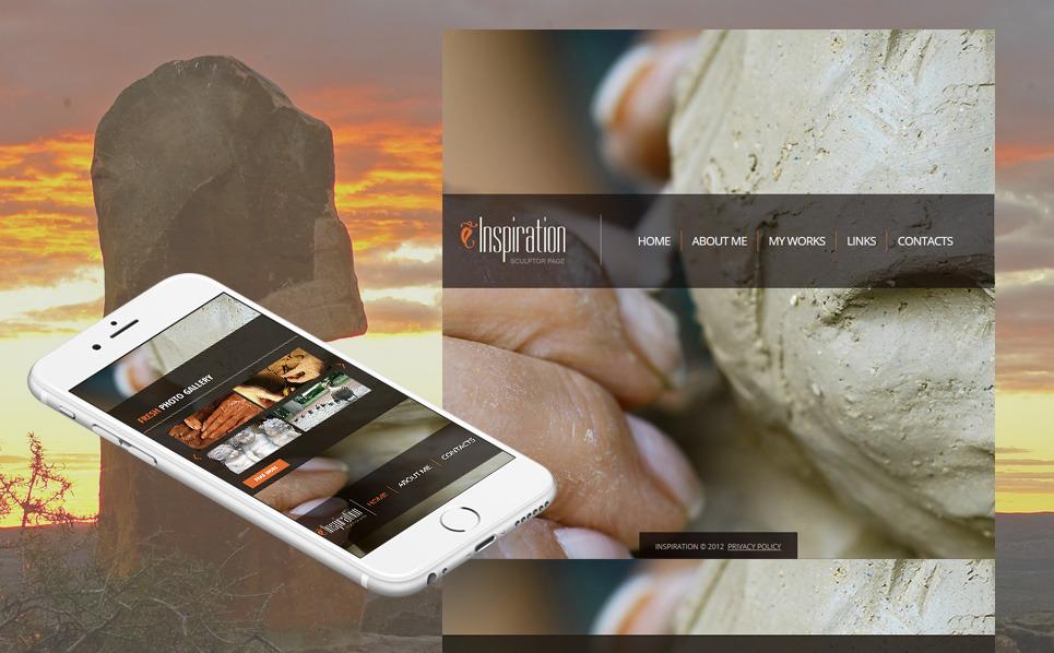 Plantilla Moto CMS HTML #41319 para Sitio de Escultura New Screenshots BIG