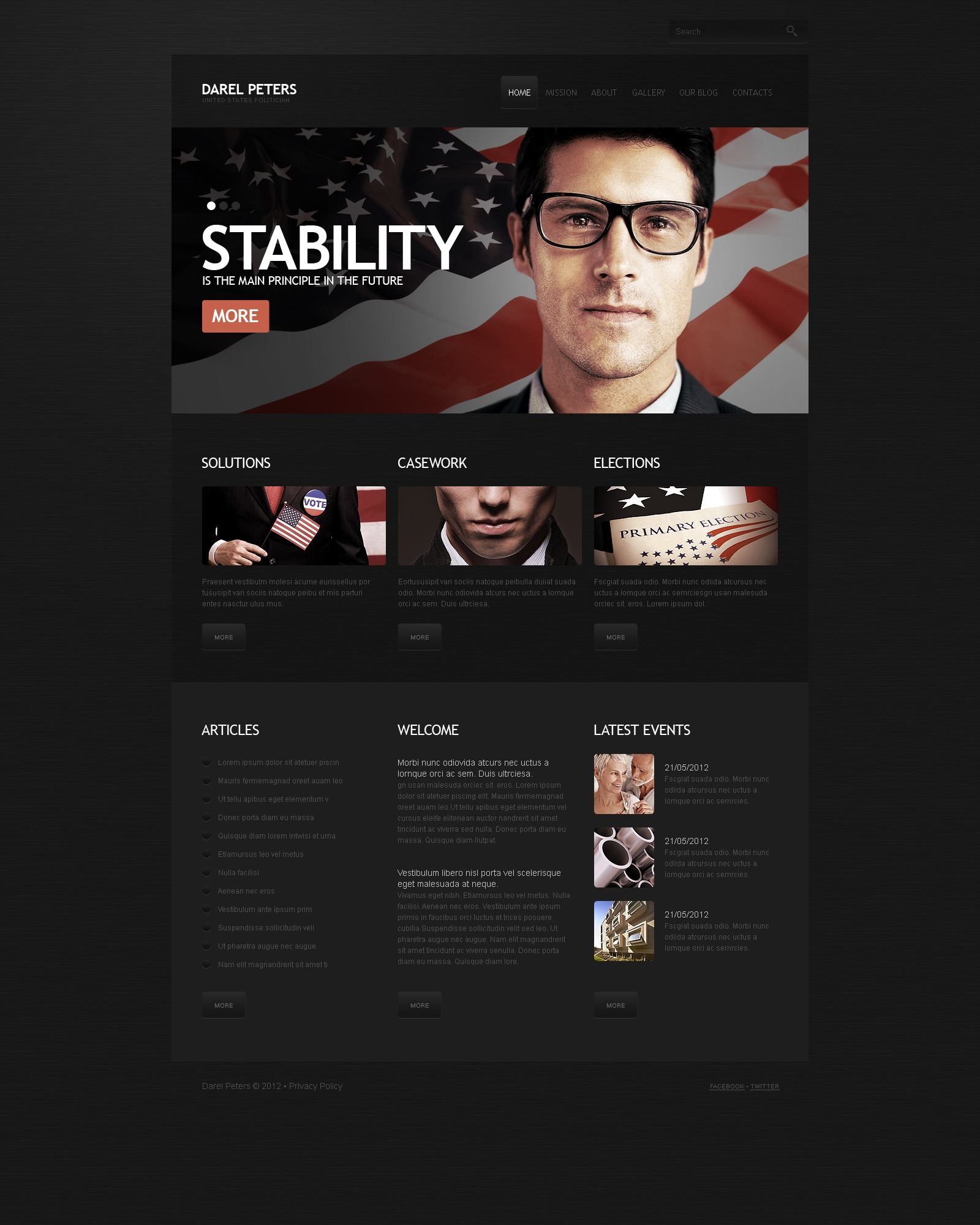 Political Candidate Wordpress Theme 41356