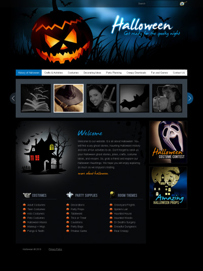 Halloween Flash CMS Template