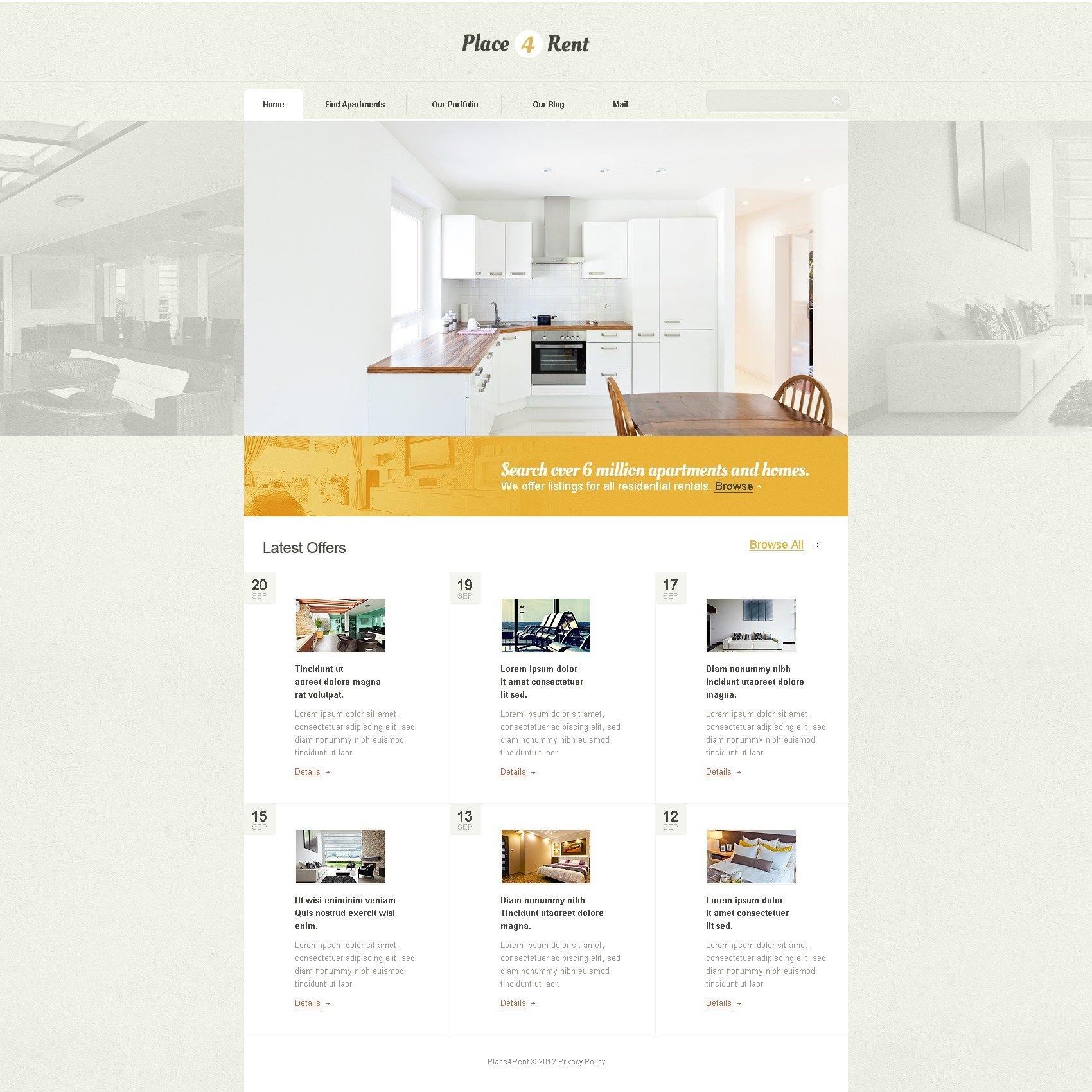 Real Estate Drupal Template - screenshot