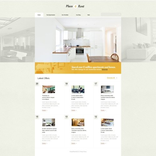 Place4Rent - Drupal Template