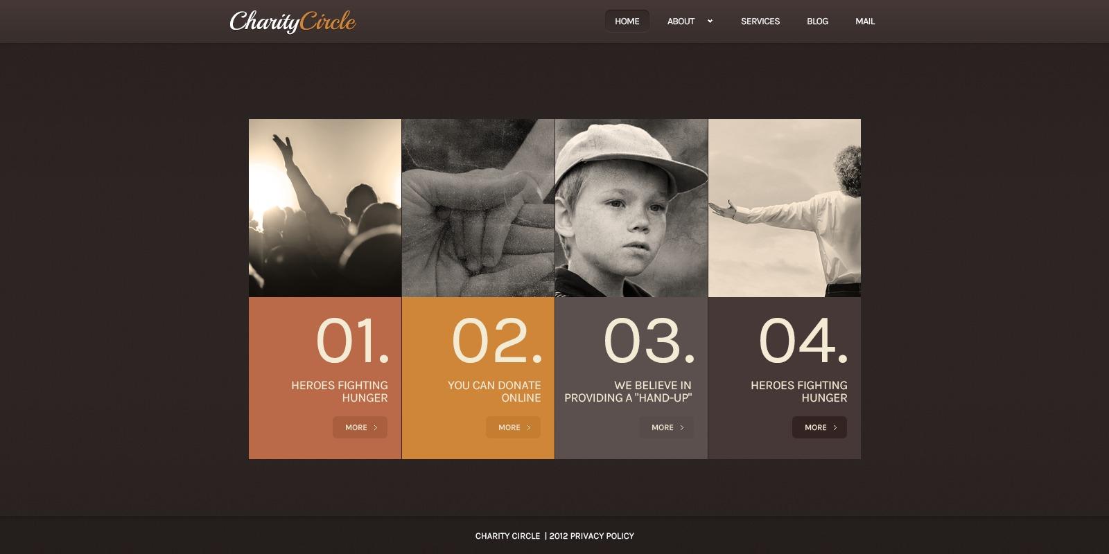 Tema De WordPress #41359 para Sitio de Caridad para niños - captura de pantalla