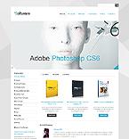 Software Website  Template 41403
