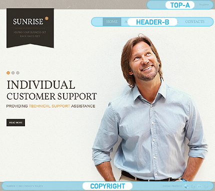 Joomla Theme/Template 41418 Main Page Screenshot
