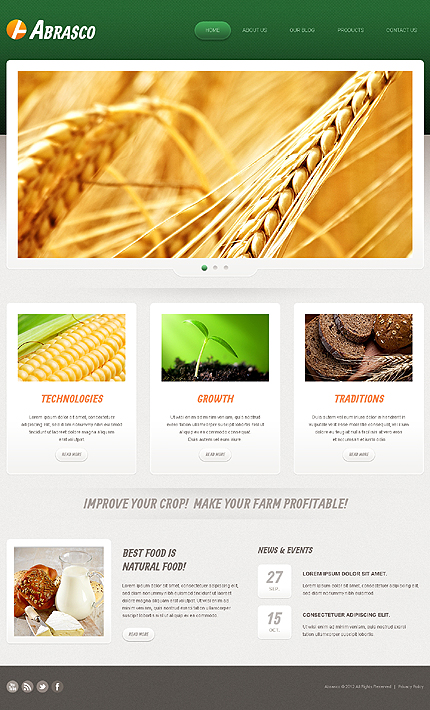 Joomla Theme/Template 41424 Main Page Screenshot