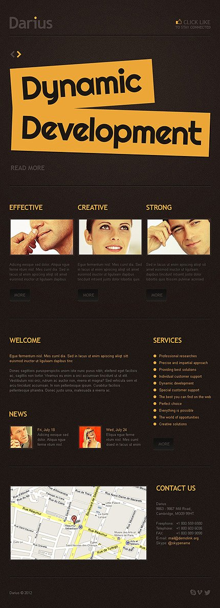 ADOBE Photoshop Template 41435 Home Page Screenshot