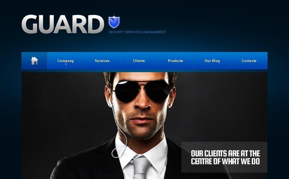 Tema Moto CMS HTML  #41439 per Un Sito di Sicurezza New Screenshots BIG