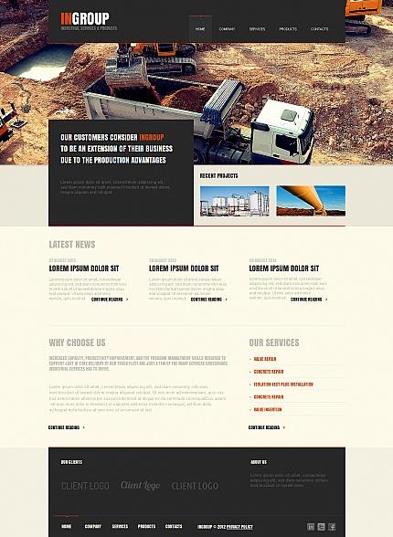 ADOBE Photoshop Template 41440 Home Page Screenshot