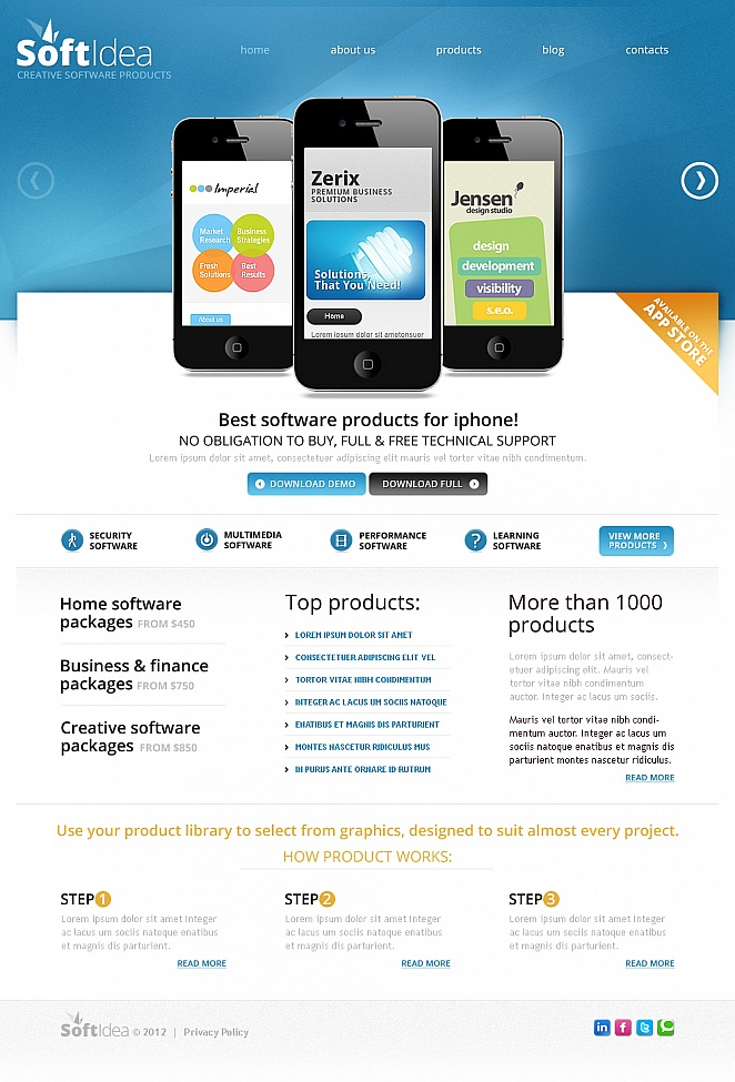 Software Website Template with a Carousel Slider - image