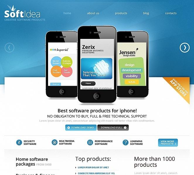 Szablon Moto CMS HTML #41445 na temat: firma programistyczna New Screenshots BIG