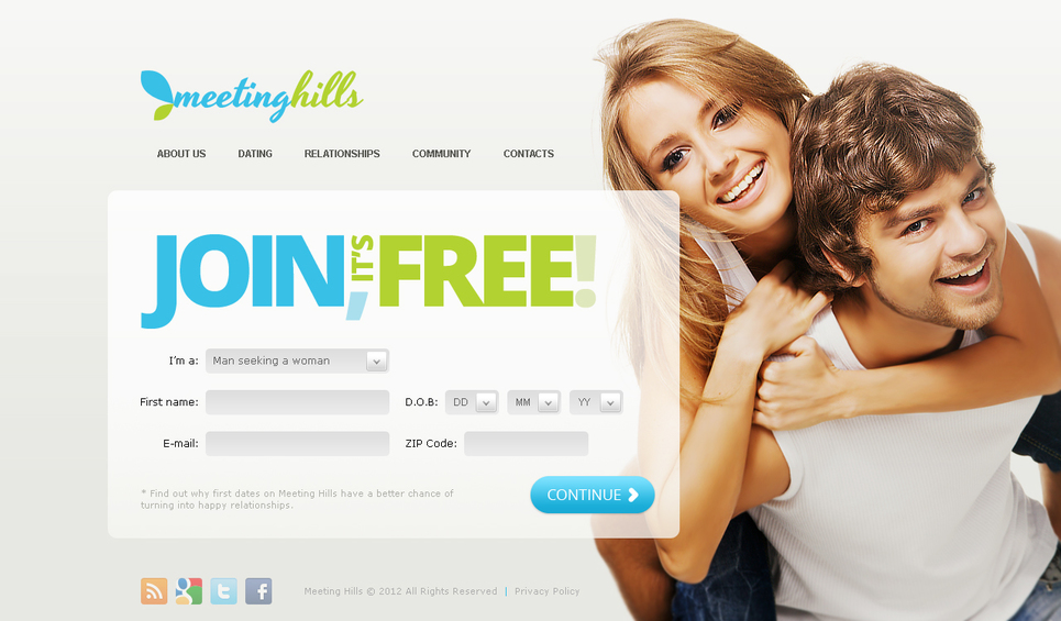 Dating Website Template with a Background Photo - image