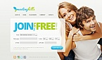 Dating Moto CMS HTML  Template 41446