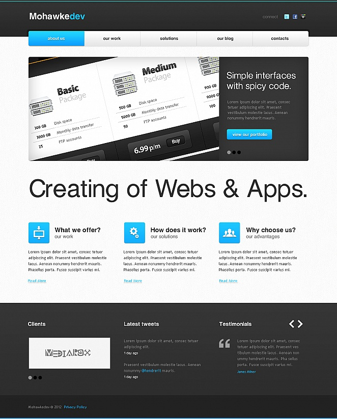 Web Development Template with jQuery Slider - image