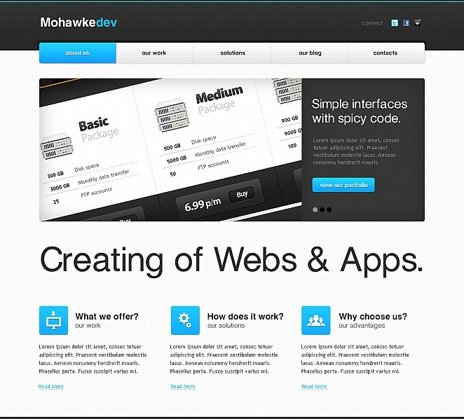 Premium Moto CMS HTML Template over Web Ontwikkeling New Screenshots BIG