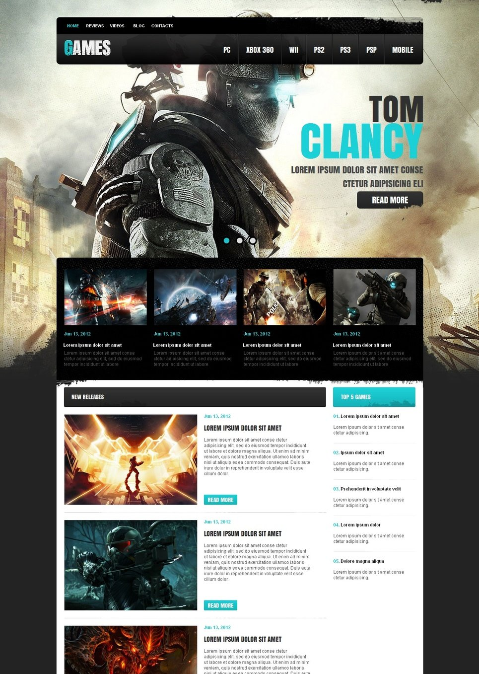 Game Portal Website Template with the Admin Panel - image