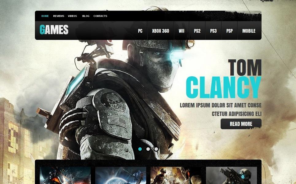 Szablon Moto CMS HTML #41450 na temat: portal gier New Screenshots BIG