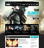 Games Moto CMS HTML  Template 41450