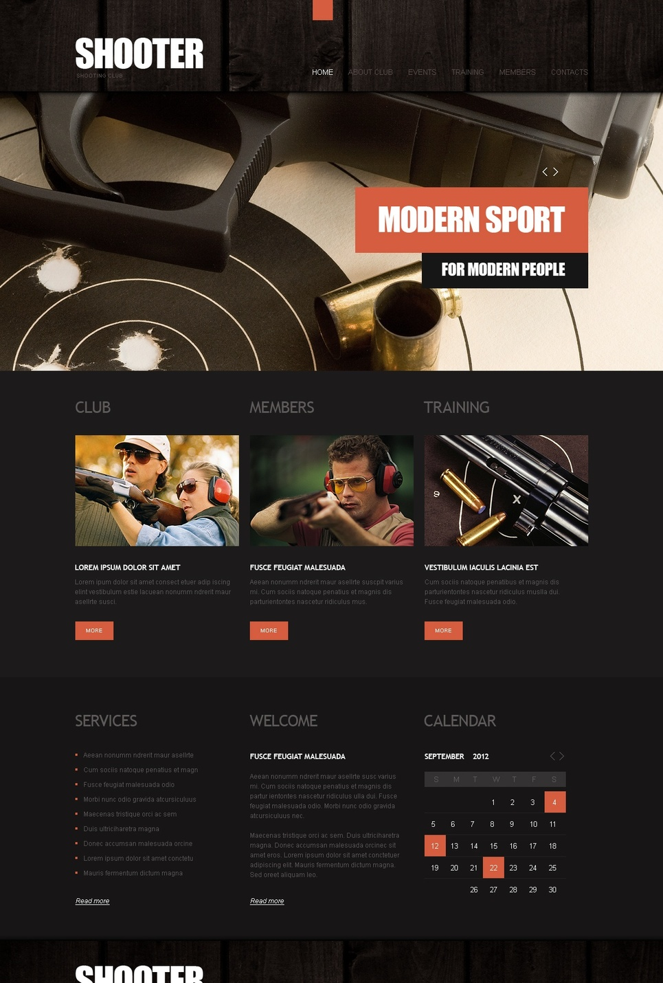 Dark Shooting Website Template - image