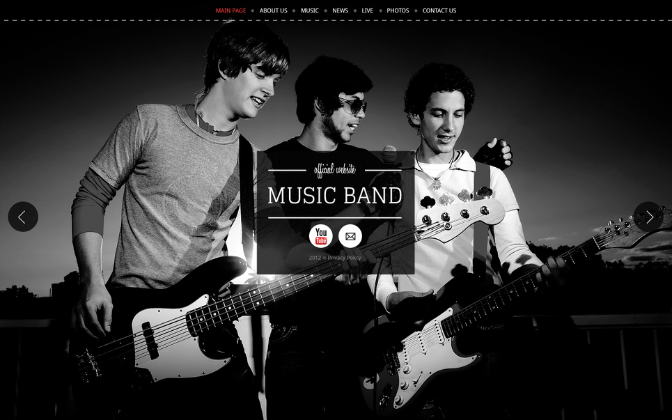 Black and White Template for Music Band - image