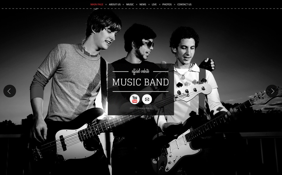 Plantilla Moto CMS HTML #41453 para Sitio de Grupo musical New Screenshots BIG