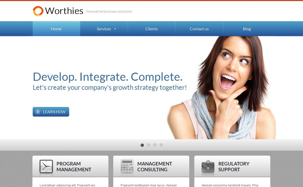 Premium Moto CMS HTML Template over Business & Diensten New Screenshots BIG