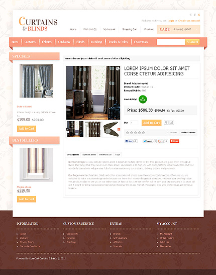 ADOBE Photoshop Template 41467 Home Page Screenshot