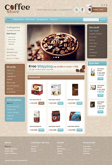 ADOBE Photoshop Template 41469 Home Page Screenshot