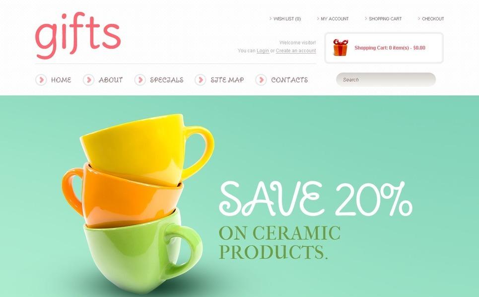 Szablon OpenCart #41470 na temat: sklep z prezentami New Screenshots BIG