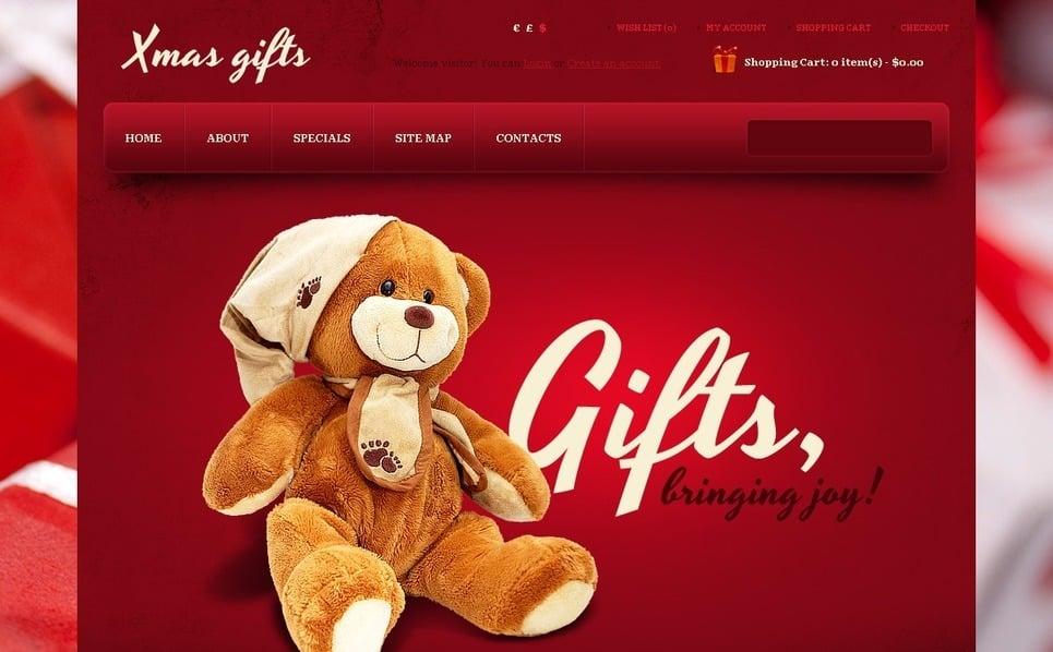 """OpenCart Vorlage namens """"Geschenke zu Weihnachten """" New Screenshots BIG"""