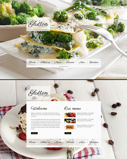ADOBE Photoshop Template 41483 Home Page Screenshot