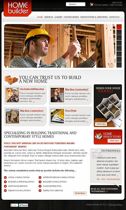 ADOBE Photoshop Template 41487 Home Page Screenshot