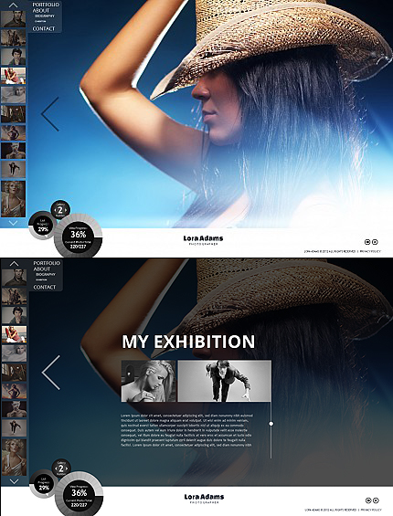 ADOBE Photoshop Template 41489 Home Page Screenshot