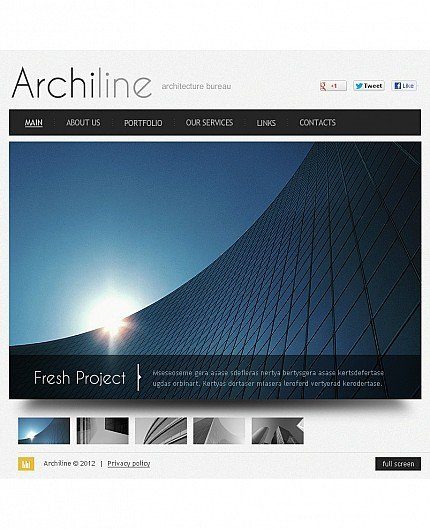 ADOBE Photoshop Template 41492 Home Page Screenshot