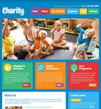 Charity Website  Template 41496