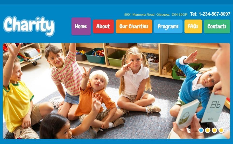 Адаптивний Шаблон сайту на тему благодійність New Screenshots BIG
