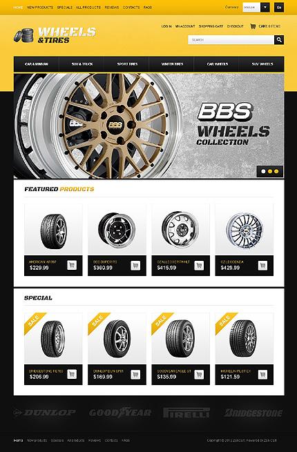 ZenCart Template 41499 Main Page Screenshot
