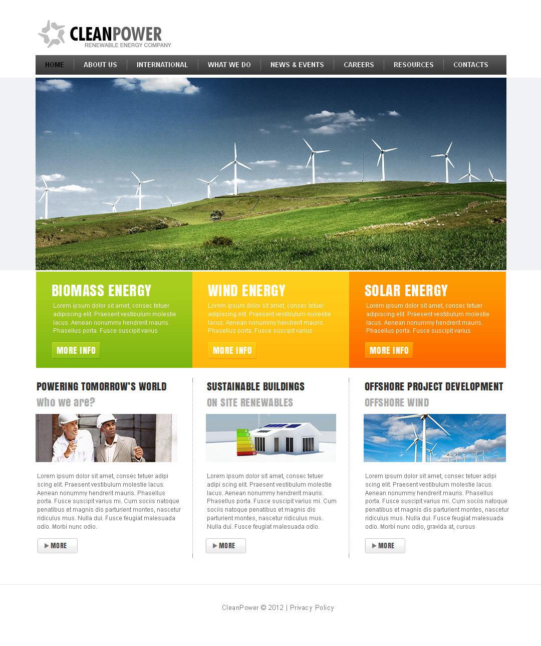 Alternative Power Moto CMS HTML Template