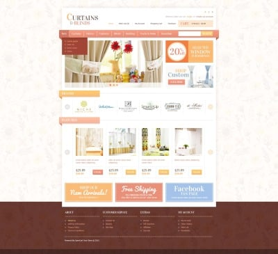 Curtains & Blinds OpenCart Template
