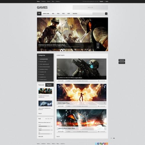 Games - Drupal Template
