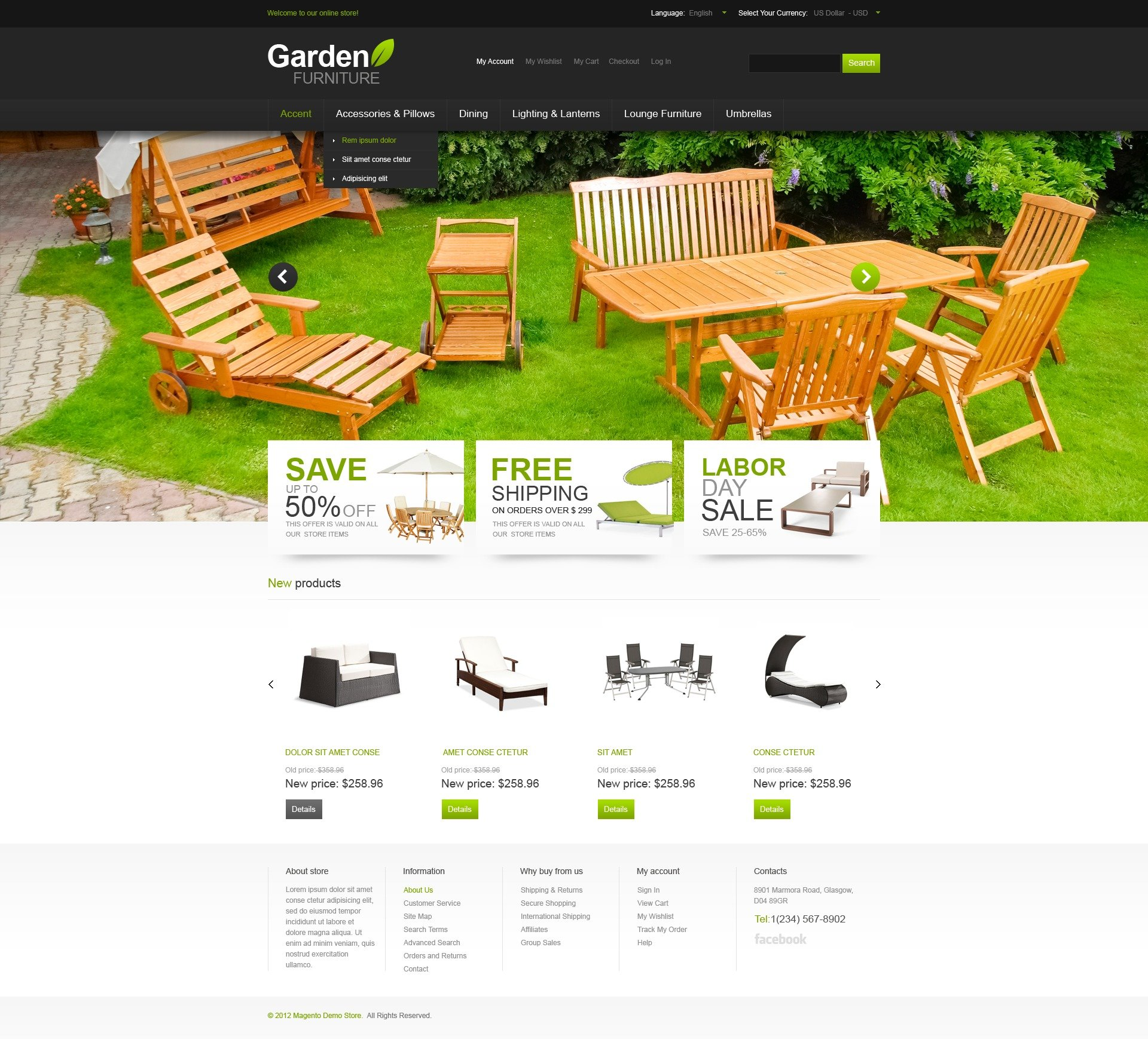 Garden Furniture S garden furniture magento theme #41432