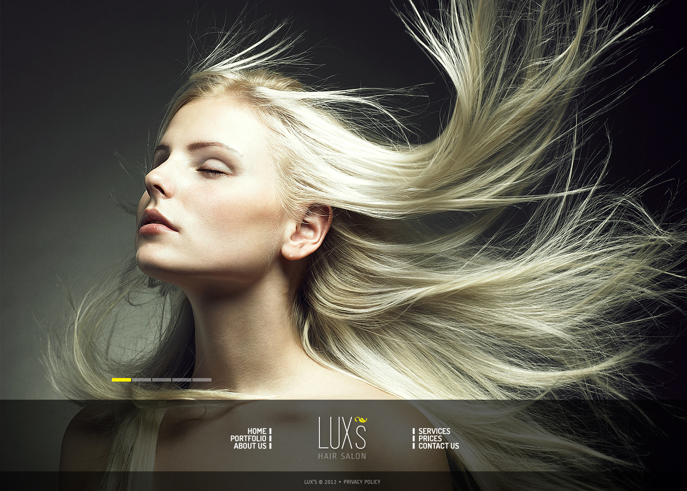 Hair Salon Moto CMS HTML Template