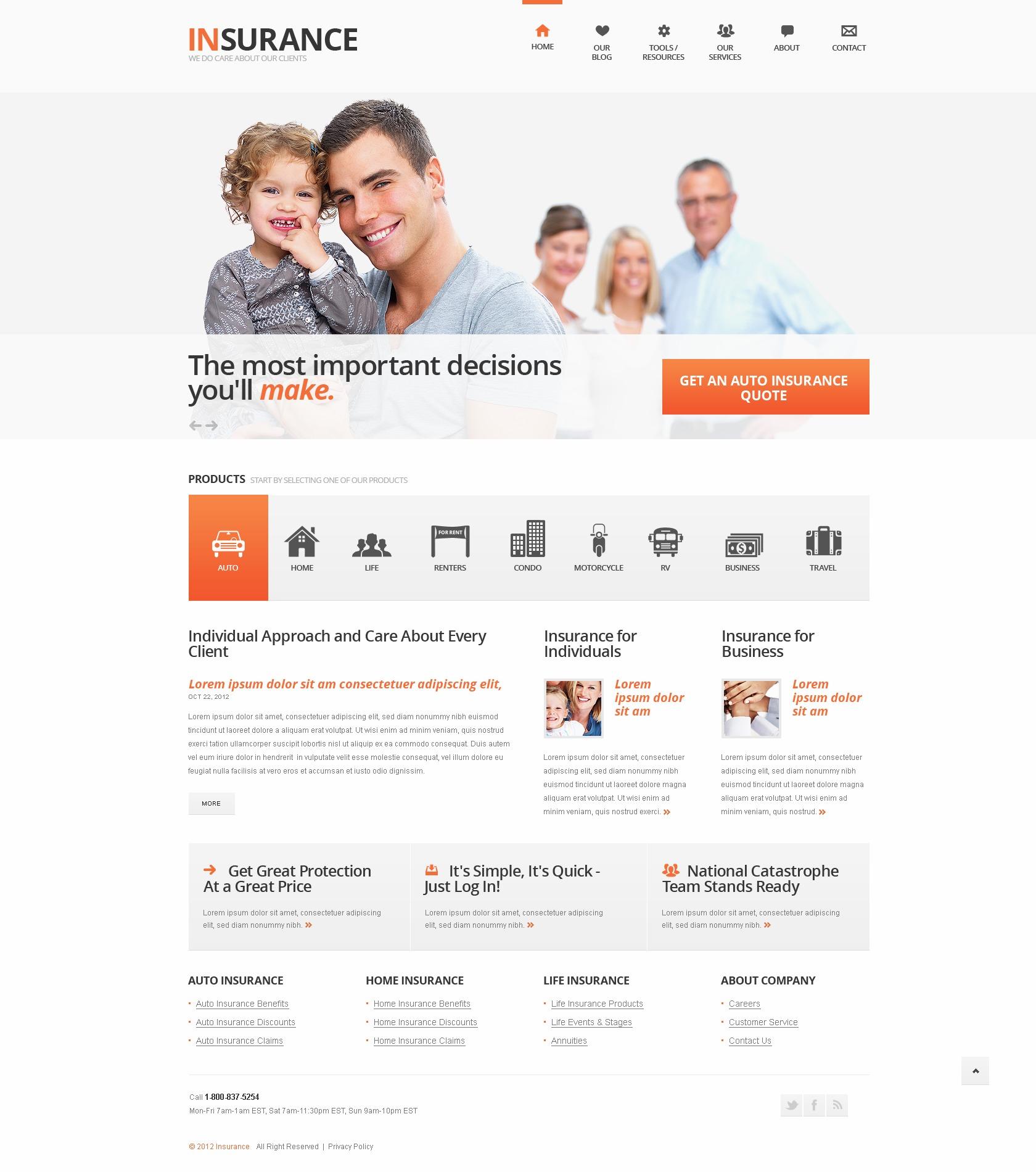 insurance template joomla  joomla insurance template - Hola.klonec.co